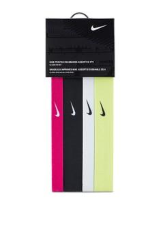 Nike Printed Headbands Assorted 4-Pack OSFM