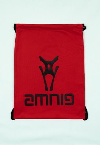 AMNIG black and red AMNIG Drawstring Bag (Red/Black) 6270BACBA2DD98GS_1