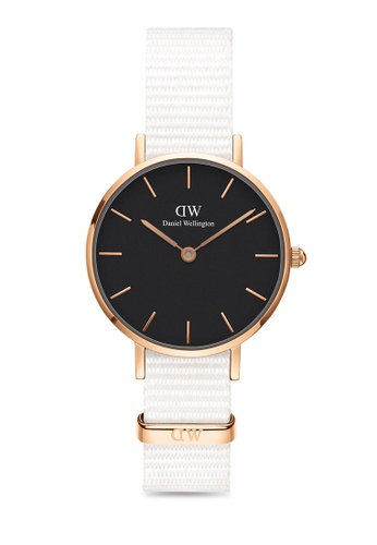 Daniel Wellington white and gold Petite Dover Black 28mm Rose Gold Watch 0A357ACFF002F4GS_1