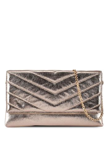 Dorothy Perkins multi Gold Quilt Metal Side Bar Clutch 315EDAC0728D61GS_1