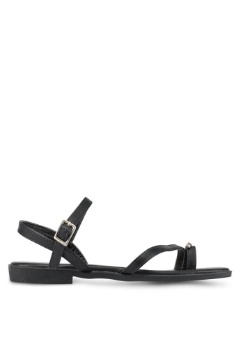 DMK black Metal Accent Sandals DM860SH0SF5HMY_1