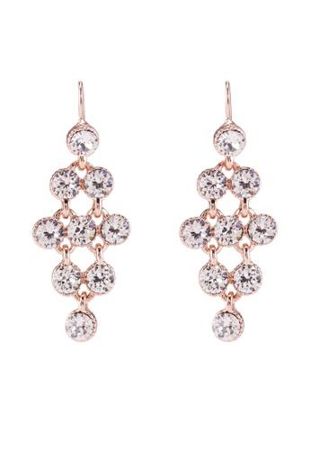 Mestige 粉紅色 玫瑰金 Larisa 耳環With Swarovski Crystals A1B2CACF319423GS_1