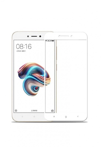 MobileHub white 5D Full Screen Tempered Glass Curved Screen Protector for Xiaomi Redmi 5A FBCDFACF6DF06DGS_1