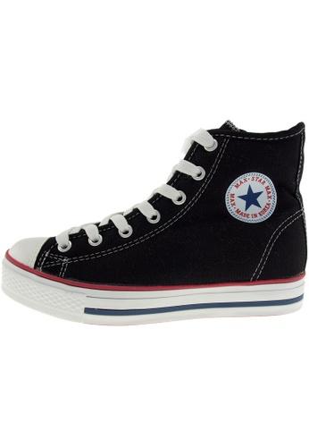 Maxstar 黑色 新款韩国鞋C1-7H時尚帆布布混合女黑色 US Women Size MA345SH19HEATW_1