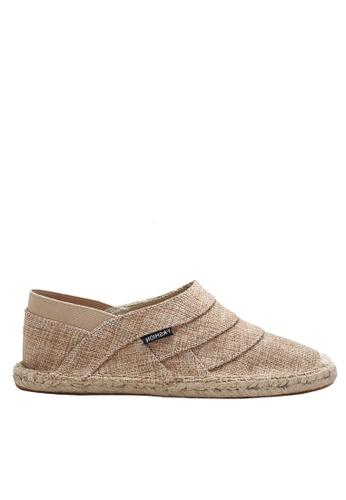 Twenty Eight Shoes beige VANSA Fashion Linen Slip Ons VSM-C1879 8B06ASH2A95B85GS_1
