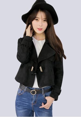 Sesura black Most Fashionable Suede Jacket 07676AA74CE773GS_1