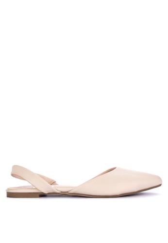 BENCH beige Slingback d'Orsay Flats 33174SHD688023GS_1