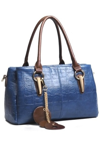 Jackbox blue Premium Artificial Crocodile Leather Shoulder Sling Bag Handbag Tote Bag 325 JA762AC61RRMMY_1