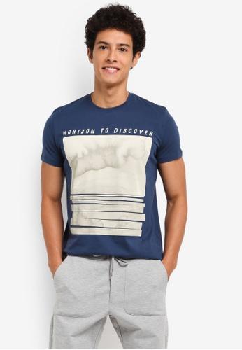 ESPRIT blue Short Sleeve T-Shirt FB06DAADF6B78EGS_1