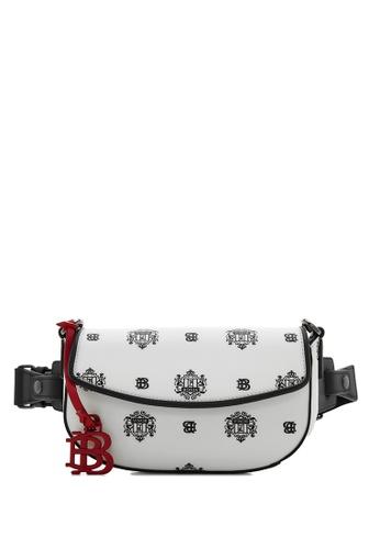 BONIA black Black Ariel Belted Bag with Twin Lion Shield Motif 2A2C1AC6EBFFC4GS_1