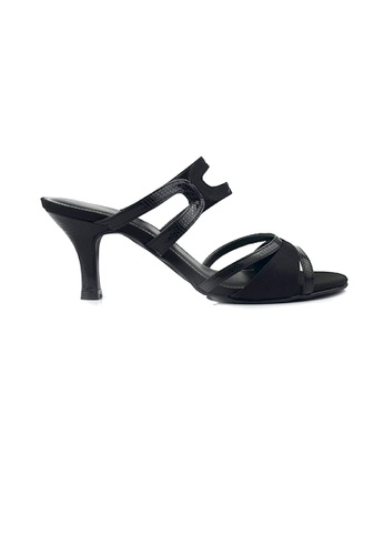 SHINE black Slip On  Lace Up Sandals F9452SH5688C79GS_1