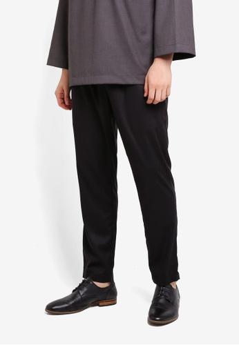 Zalia Homme black Drawstring Pants 45589AA1587F88GS_1