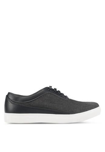 JAXON black Mixed Materials Linen Sneakers C2E2FSH5D0134CGS_1