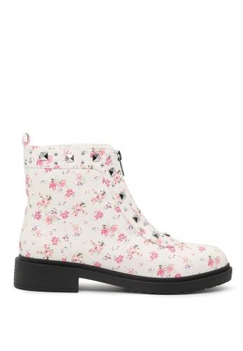 London Rag London Rag女士白色印花马丁靴 SH1561 LO507SH0A6DRTW_1