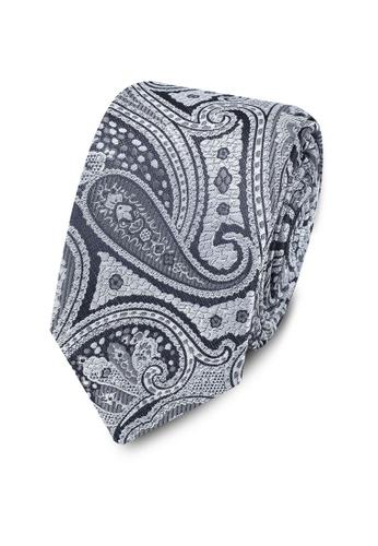 Burton Menswear London grey Grey Paisley Tie C147DACC5824D4GS_1