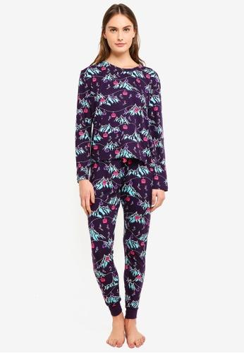Chelsea Peers multi Ski Mountain All Over Print Long Pyjama Set 19E09AA0CF5F0CGS_1