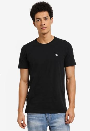 Abercrombie & Fitch black Global Pop Icon Crew T-Shirt EE58BAA18EC628GS_1