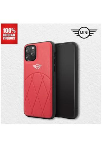 """Mini Cooper red Mini Cooper Casing iPhone 11 Pro 5.8"""" - PU Leather Crossing - Red 7B1AAESA0C7FB5GS_1"""