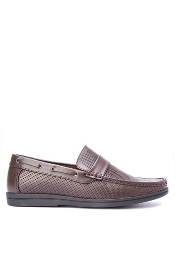 Italianos brown Aron Loafers IT153SH0KJ1PPH_1