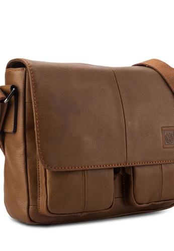Volkswagen brown Volkswagen Genuine Leather Sling Bag VO089AC44EHZMY_1