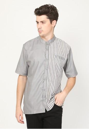 Allev grey Syadid Shirt - Abu 11794AA1B359B8GS_1