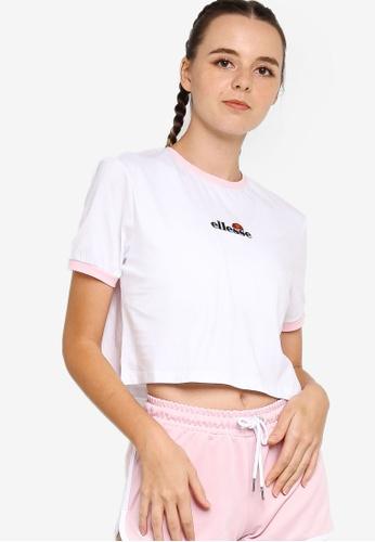 Ellesse white Derla Crop T-Shirt 147BDAA2DF0320GS_1