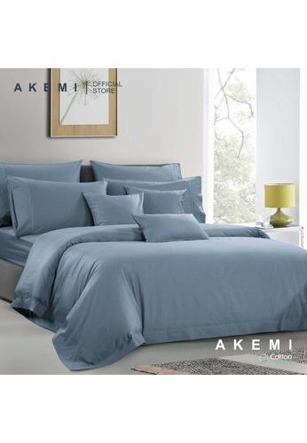 AKEMI blue AKEMI Cotton Select Affinity - Sage Box Fair Navy (Quilt cover Set) 3E143HL28D3E92GS_1