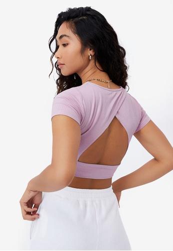 Supre purple Lauren Open Back Top BC52CAACE0B0C7GS_1