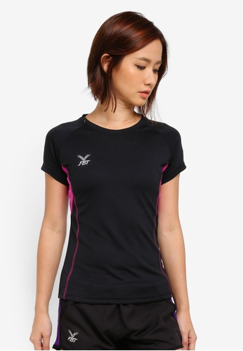FBT black and pink Sports Tee 58BD5AA1009AFDGS_1