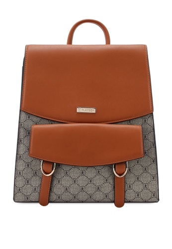 PLAYBOY BUNNY brown Ladies Backpack DFC06ACEFB5AB5GS_1