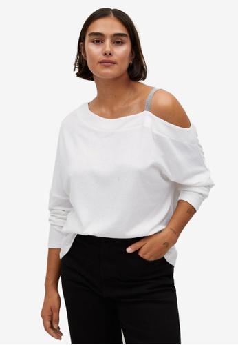 Violeta by MANGO white Plus Size Shoulder Strap T-Shirt 9EE3DAAA25F047GS_1