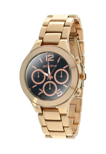 Dooka brown and gold Exactime Singapore Design Men's Stainless Steel Strap Watch H0602  DO079AC19MCAPH_1