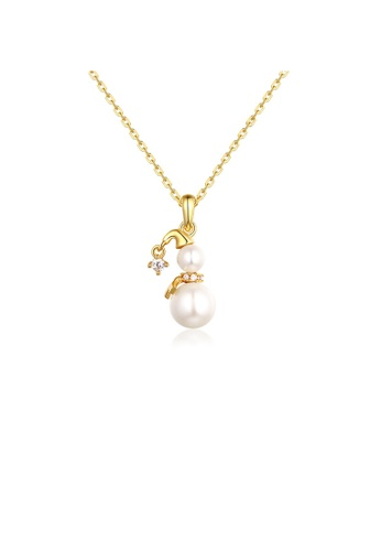 SUNSET 金色 Premium 925 Sliver Pearl Necklace 3695DAC7F6F439GS_1