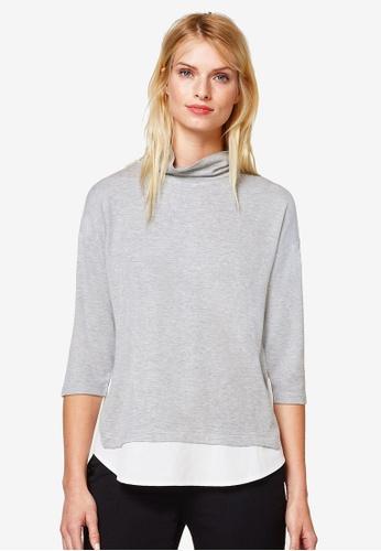 ESPRIT grey 3/4 Sleeve T-Shirt 879DDAA91838AEGS_1