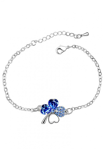 LOVENGIFTS silver and navy LOVENGIFTS Lucky Bracelet (Navy) LO429AC55UWIMY_1