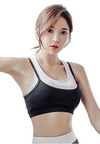 YG Fitness black Sports Running Fitness Yoga Dance Sports Bra 152D8US43B378EGS_1