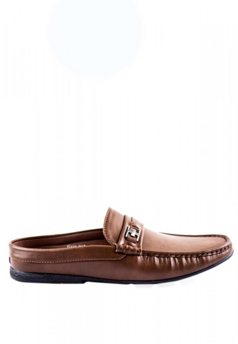 Otto brown Mule Loafers with Buckles A2723SH5DBA14AGS_1