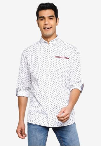 Jack & Jones white Long Sleeves Print Shirt 5812EAA1A39167GS_1