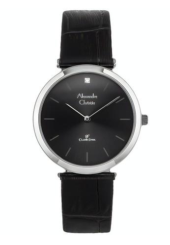 Alexandre Christie black Alexandre Christie Jam Tangan Wanita - Black Silver - Leather Strap - 8577 LHLSSBA 314FFAC77F22DBGS_1
