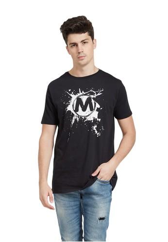 MUGABE black MUGABE mens t-shirt plast white D25BFAA4D7F659GS_1