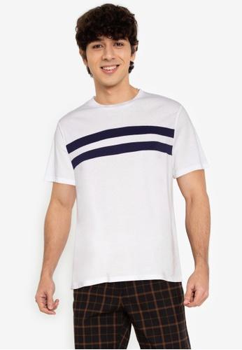 ZALORA BASICS multi Chest Stripe T-Shirt 53B6BAAEBE6E2BGS_1