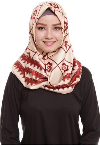 Mybamus Ziggy Square Hijab Satin Cream