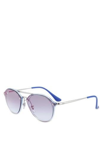 Ray-Ban 多色 雙槓透明太陽眼鏡 3D248GL6C343D7GS_1
