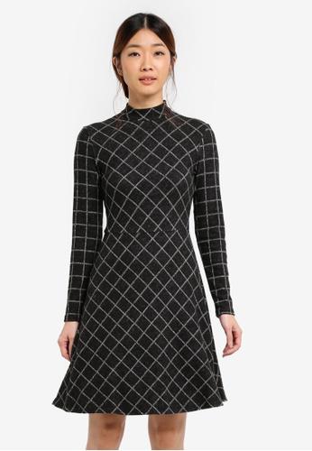 WAREHOUSE grey Warmhandle Check Polo Dress 42D0AAA5FF1FD2GS_1
