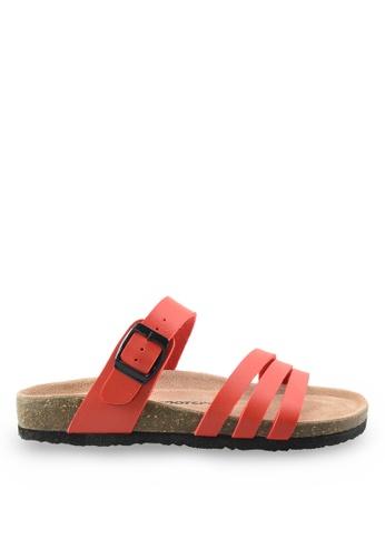 Footspot red Footspot – Casual Cork Sandals FO296SH54EAVHK_1