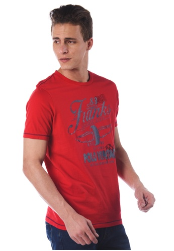POLO HAUS red Polo Haus - Printed Tee  (RED) PO783AA91JNOMY_1