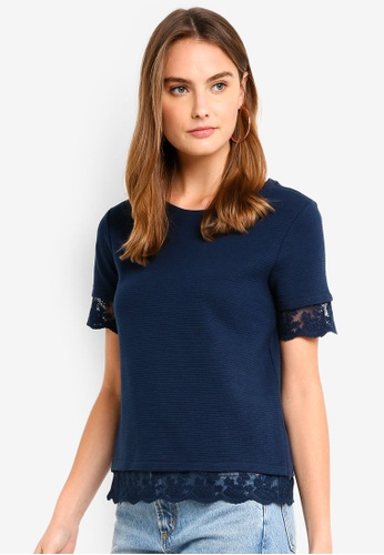 ESPRIT navy Short Sleeve T-Shirt 2178CAADB6729EGS_1