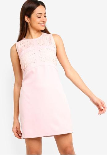 ZALORA pink Panel Shift Dress 13319AA5CD76D5GS_1