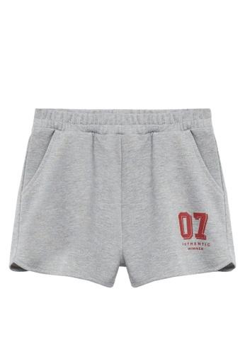 MANGO KIDS grey Printed Cotton-Blend Shorts CD825KA7396062GS_1