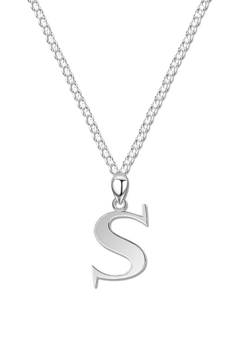SC Tom Silver silver Letter Pendant with Chain SC872AC0J8D7PH_1